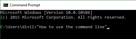 A quick primer on the command line